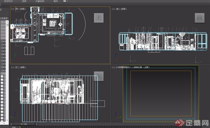 详细的完整住宅室内装饰设计3d模型及效果图