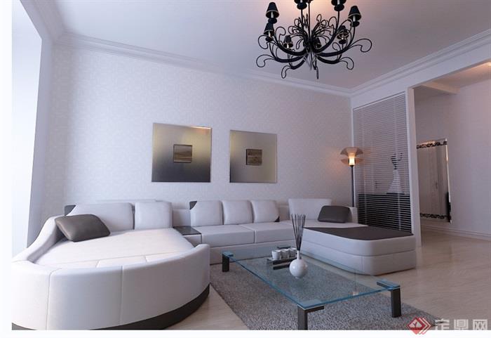 详细的住宅装饰室内设计3d模型及效果图