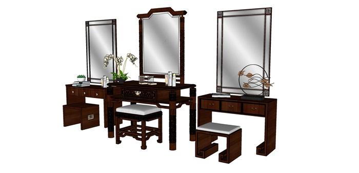 中式梳妆台组合(3)