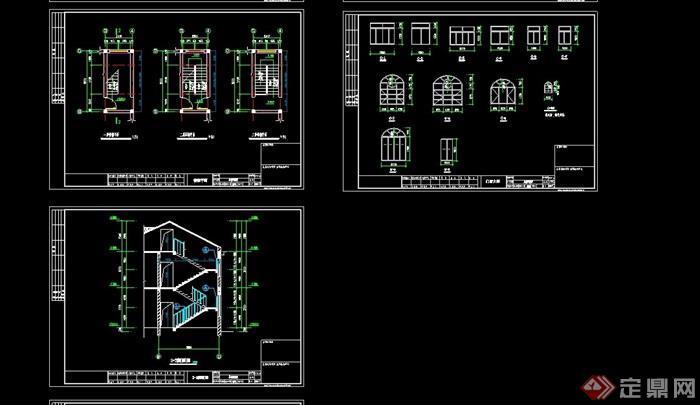 欧式整体私房圈子别墅v整体cad施工图双拼成都住宅菜别墅图片