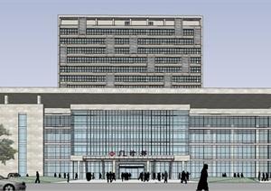 中医院三方案模型 医院模型