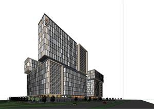 公寓模型 酒店模型 现代风格公寓 学生公寓