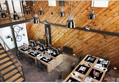 辦公空間詳細裝飾設計3d模型及效果圖