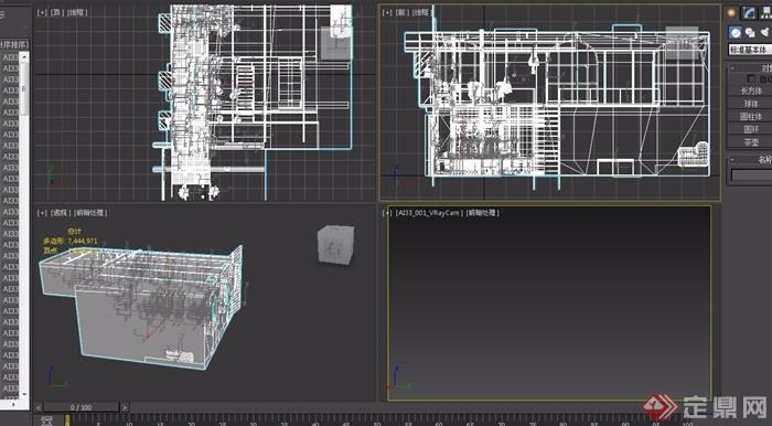 办公空间详细装饰设计3d模型及效果图