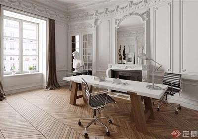 歐式詳細的完整辦公室3d模型及效果圖
