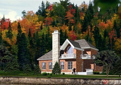 歐式風格兩層住宅別墅設計cad方案