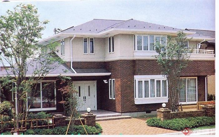 欧式风格两层住宅别墅设计cad方案