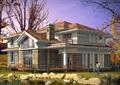 詳細的完整兩層風格住宅別墅設計cad方案