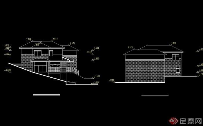 详细的欧式风格两层住宅别墅cad方案