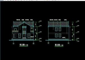 欧式风格多层别墅设计cad方案及ppt方案