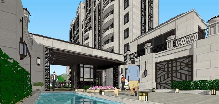 新亚洲住宅-+售楼处全套模型(3)