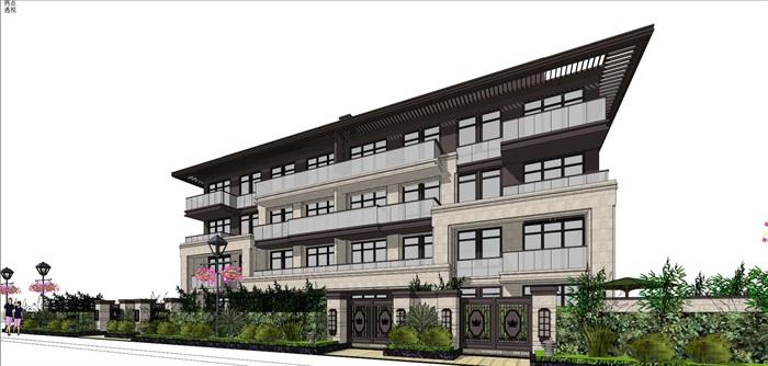新亚洲住宅-+售楼处全套模型(5)