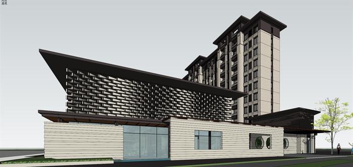 新亚洲住宅-+售楼处全套模型(6)