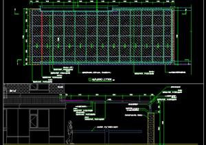 景观施工图地库入口CAD