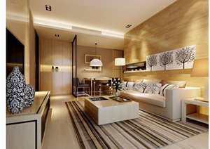现代详细的住宅室内客厅装饰设计3d模型及效果图