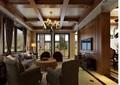 北美风格详细的客餐厅装饰设计3d模型及效果图