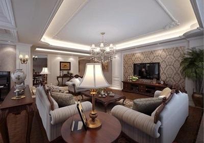 详细的北欧风格住宅客厅装饰设计3d模型及效果图