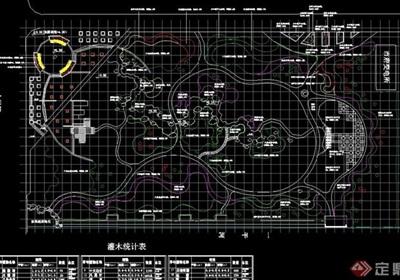 园林景观详细的办公环境景观设计cad施工图