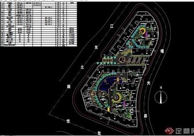 小地块住宅景观环境设计绿化cad配置图