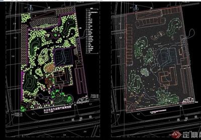 水乡农业生态园平面规划cad方案图