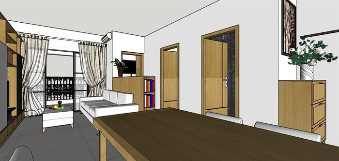 90平米商品房现代日式北欧风室内装修设计(1)