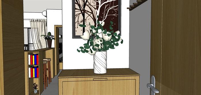 90平米商品房现代日式北欧风室内装修设计(2)