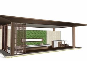 廊架-吧台 现代 景观 简约 绿植1