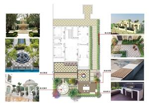 庭院彩平PSD素材,植物素材