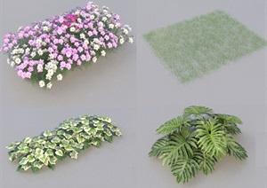 SU(草图大师)代理植物、草地、绿篱