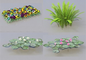 SU(草图大师)代理植物灌木、睡莲