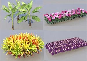 SU(草图大师)代理植物、灌木、杜鹃绿篱