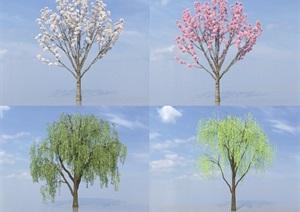 SU(草图大师)代理植物、柳树代理
