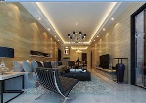 客厅详细整体空间装饰设计3d模型及效果图