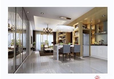 现代简约风格详细的客厅装饰设计3d模型及效果图