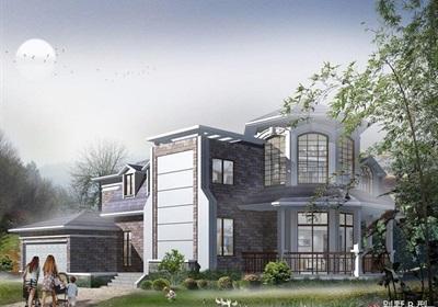 欧式两层详细的住宅别墅设计cad施工及效果图