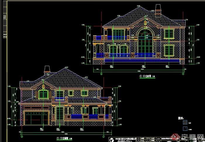 欧式六联两层别墅别墅v六联cad施工图好住宅四联哪风格图片