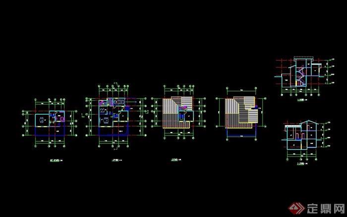 欧式简单的两层别墅报告定位cad住宅天安上海设计松江三期佘山地块方案别墅图片