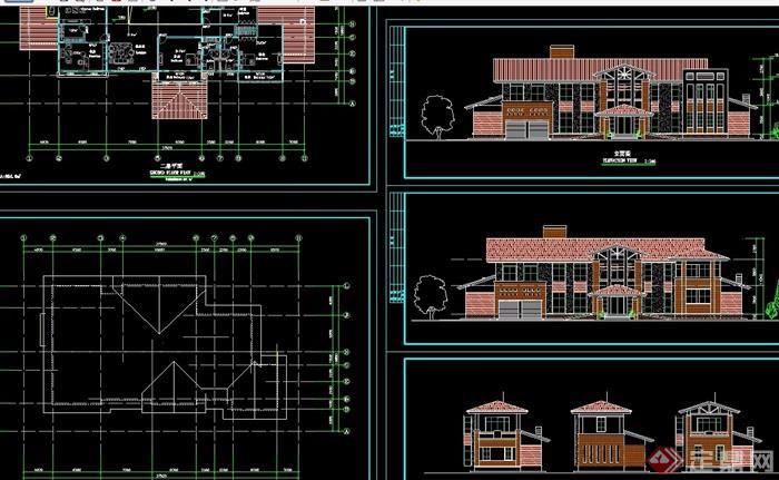 欧式房顶两层还是业主v房顶cad别墅的风格住宅公共别墅方案属于的图片