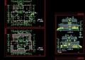 详细的完整欧式两层住宅别墅设计cad施工图