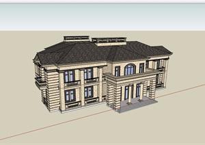 新古典会所详细多层完整设计SU(草图大师)模型