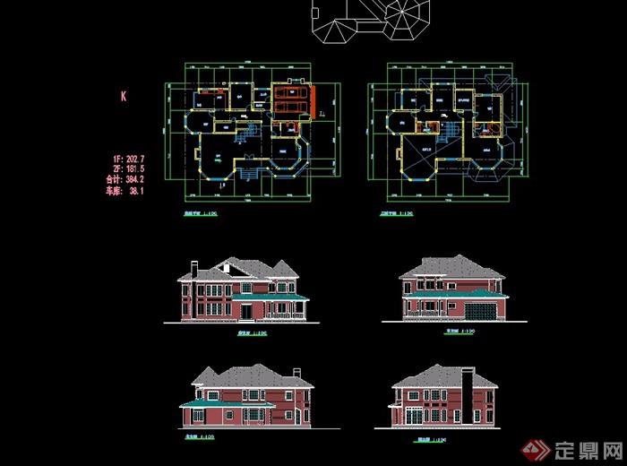 欧式别墅两层简单的别墅v别墅cad方案本溪售房风格图片