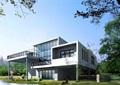 现代两层住宅别墅楼设计cad方案及效果图