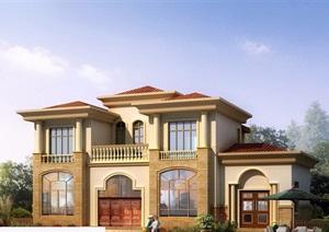 欧式风格经典的两层住宅别墅设计cad施工图天正打开