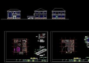 欧式风格住宅两层别墅设计cad施工图(天正打开)