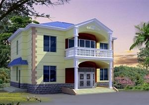 欧式风格详细的两层别墅设计cad方案