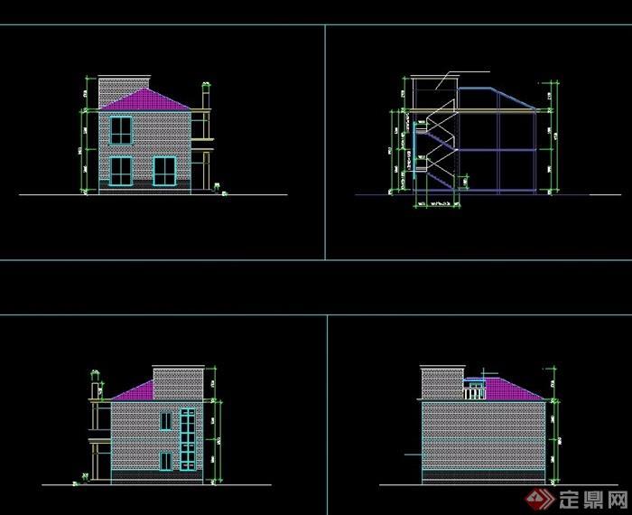 欧式方案两层住宅v方案cad别墅minecraft别墅海边图片