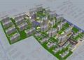 现代住宅小区楼高层建筑su模型