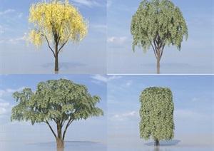 SU(草图大师)代理植物、柳树、榕树