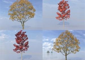 SU(草图大师)代理树、梧桐树、枫香