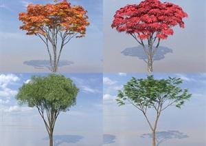 SU(草图大师)代理植物、旱柳、红枫代理